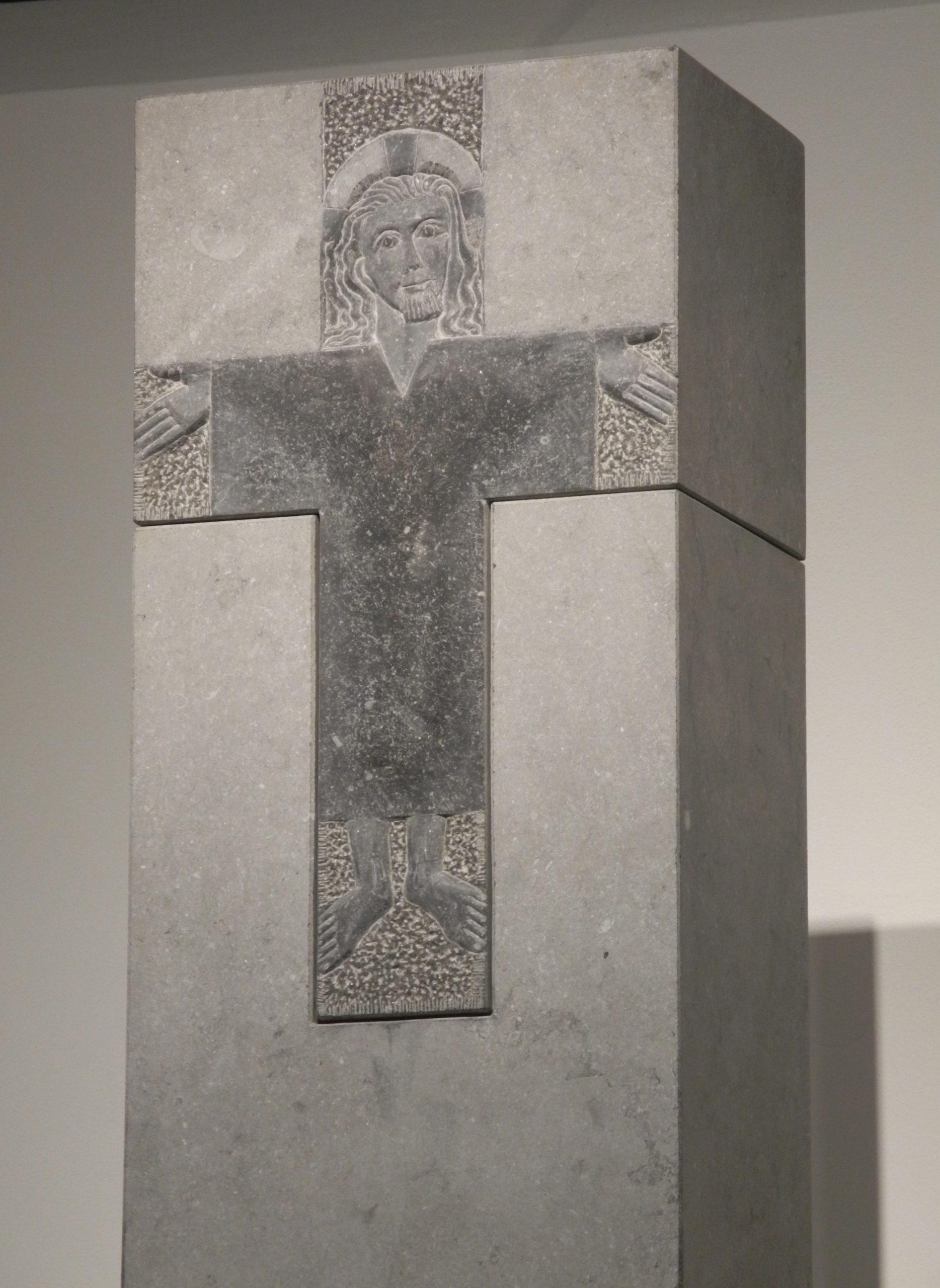Christuskreuz, Hlg. Kreuz, Ichendorf, Belgisch Granit, Höhe 280 cm, 1997