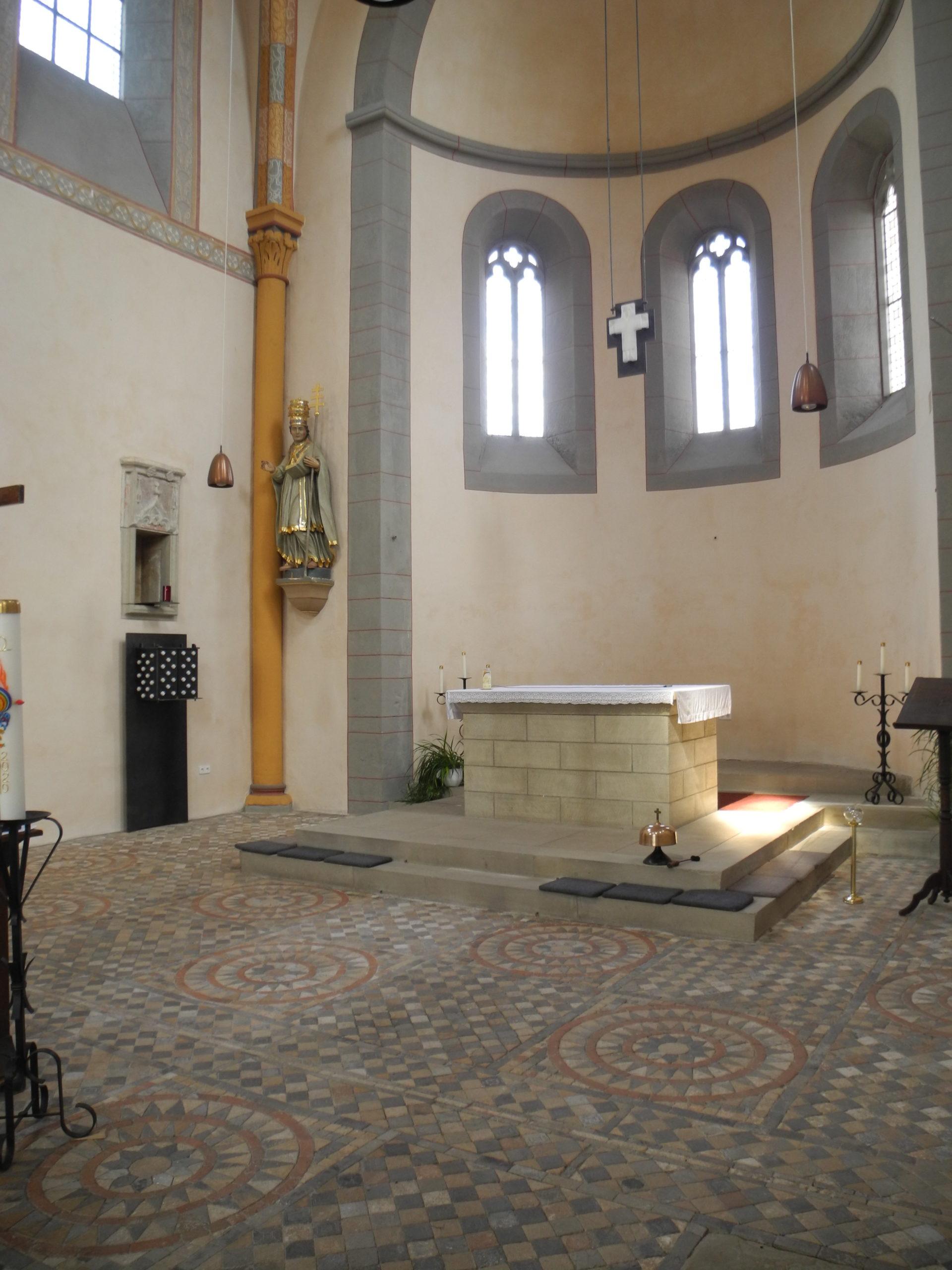 Altarraumgestaltung, Klosterkirche Sponheim, 2020