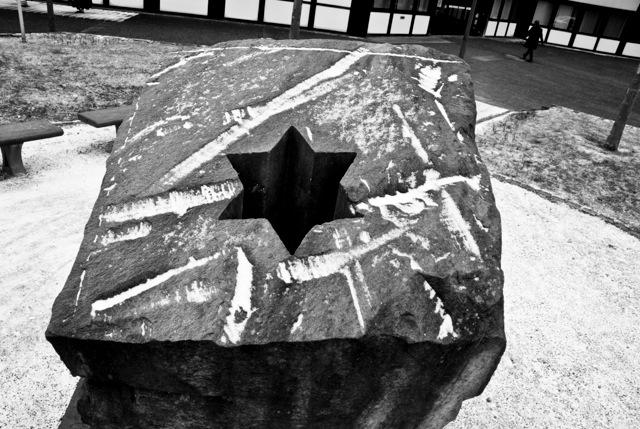 Mahnmal Aufsicht, Herzogenrath, Sandstein, 2004