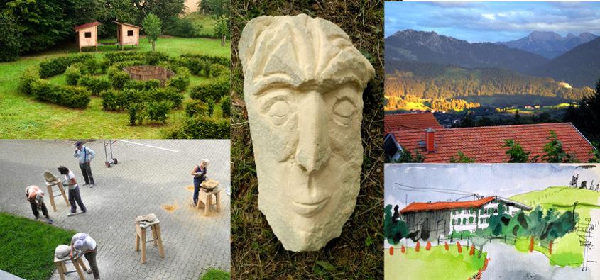 Bildhauerkurs im Allgäu